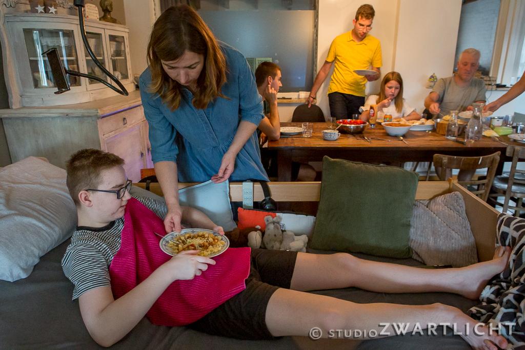 samen voor daan fotoreportage samen eten
